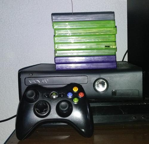 Xbox 360 kinnect con 7 juegos 1 control.