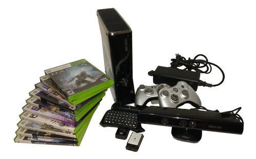Xbox 360 slim juegos controles kinect y teclados