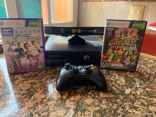 Xbox 360 slim, (dos juegos de regalo) usado dos veces.