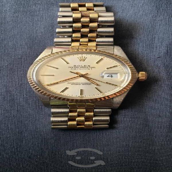 Rolex date just acero oro
