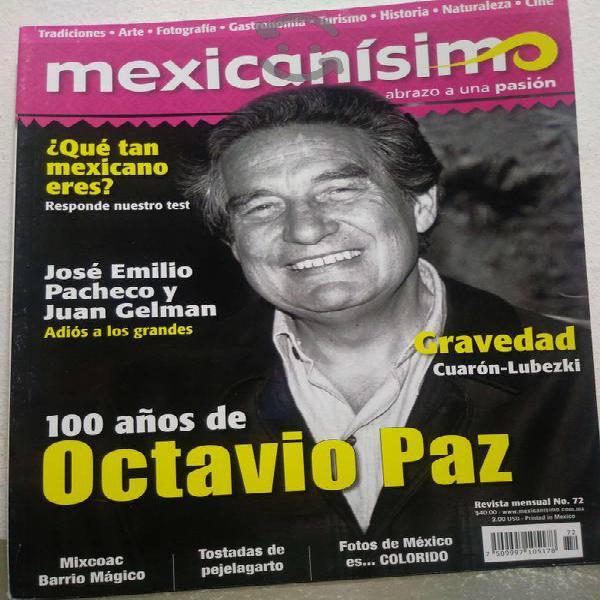100 años de octavio paz revista mexicanisimo