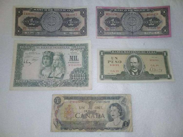 33 billetes de diferentes países