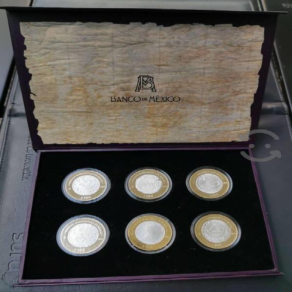 6 monedas bimetálicas herencia numismática de méxi