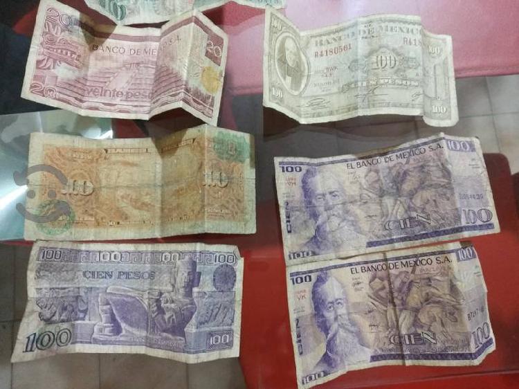 Billetes antiguos varias denominaciones