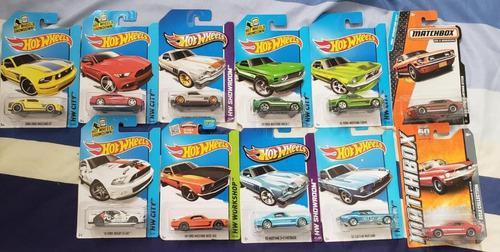 Colección de 11 vehículos ford mustang's hot wheels