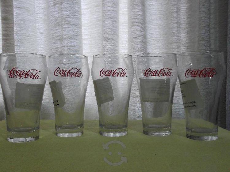 Coleccion de 5 vasos de coca cola nuevos