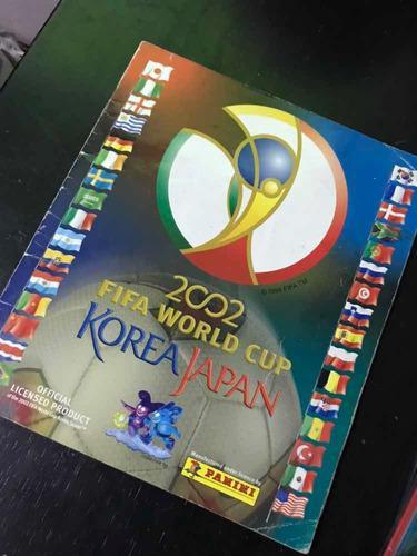 Corea japon 2002 lleno álbum mundial panini pegado completo
