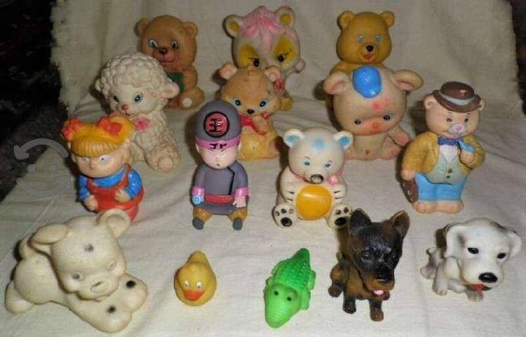 Lote de 15 figuras de goma - col. de los 60s a la