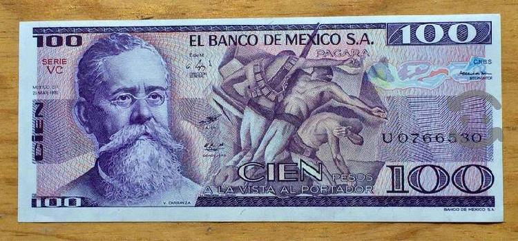 Lotes billetes mexicanos seriados sin circular