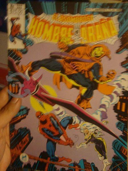 Marvel comics retro spider man , blackcat y hobgob