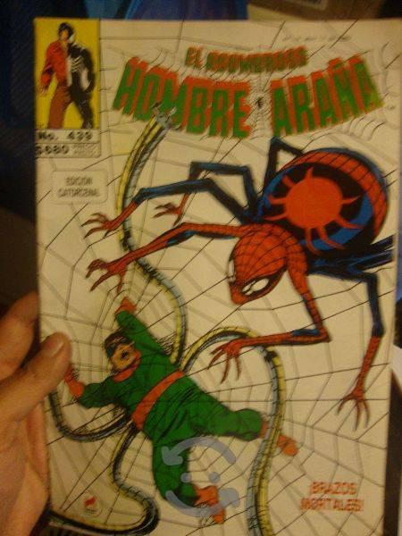 Marvel comics retro spiderman vs dr. octopus