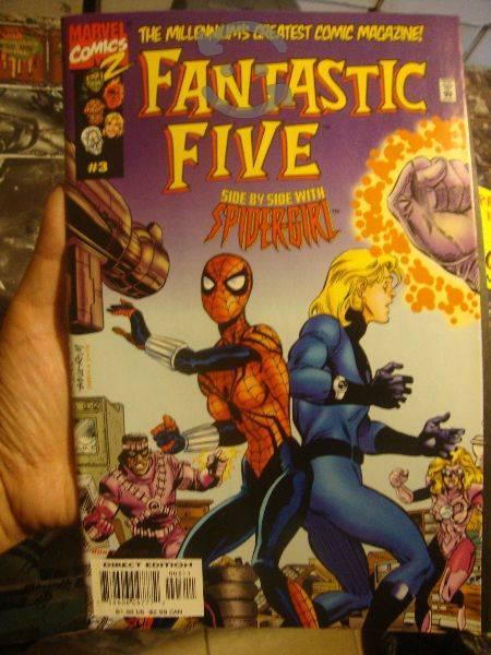 Marvel comics spider girl y fantastic five