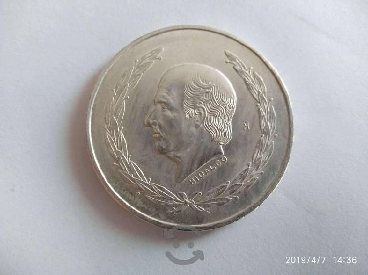 Moneda antigua hidalgo 5 pesos grde plata ley .720
