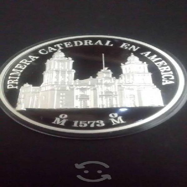 Moneda medalla acabado espejo 2 onzas plata