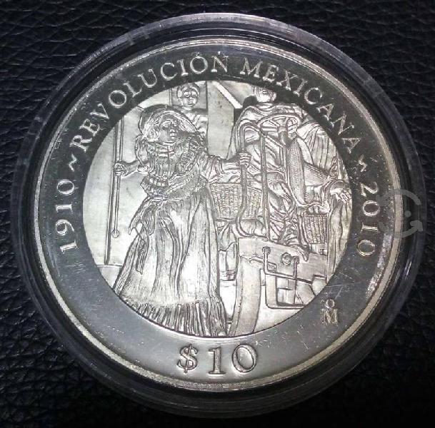 """Moneda de """"la adelita"""" centenario de la revolución"""