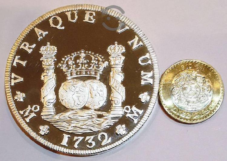 Moneda proof 1987 5 onzas de plata pura columnaria