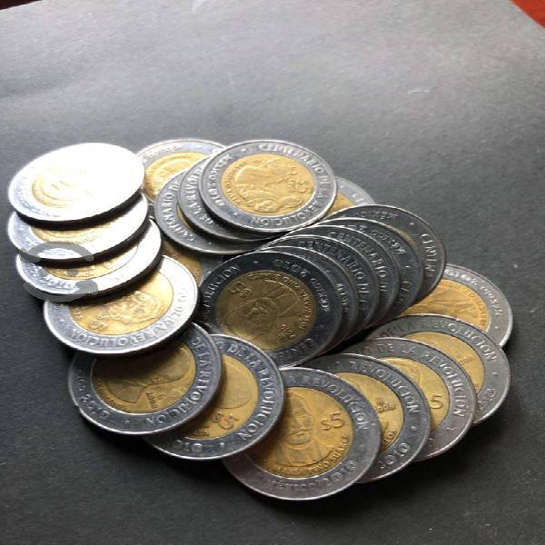 Monedas colección revolución mexicana centenario