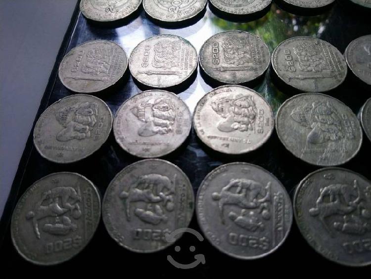 Monedas méxico86 revolución independencia +20pesos