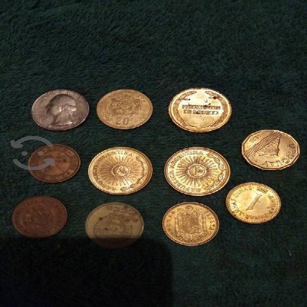 Monedas viejas rusa usa.y mex