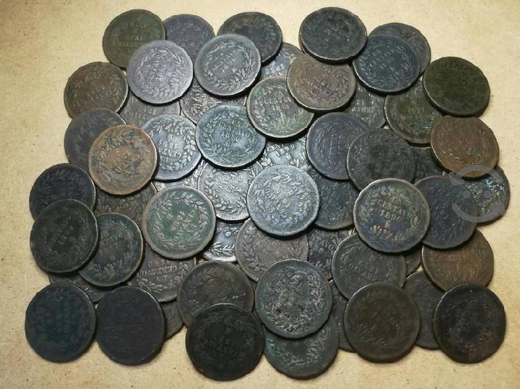 Monedas antiguas de 1 centavo 1886 a 1892 cobre