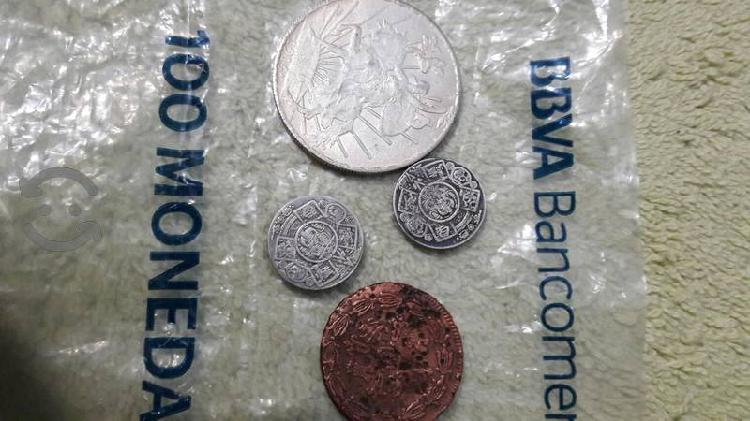 Monedas antiguas de colección plata pura