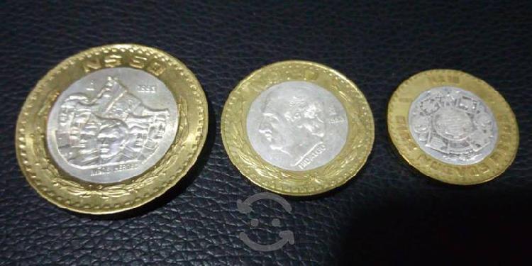 Monedas bimetálicas de nuevos pesos