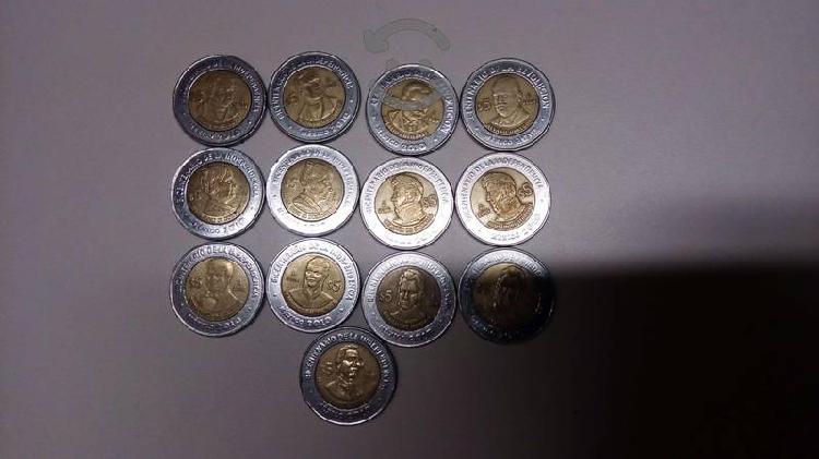 Monedas de aniversario independencia y revolucion