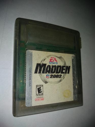 Nintendo gameboy color video juego madden 2002 funcionando