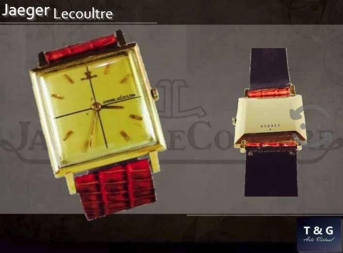 Reloj de oro sólido de 18k. marca jaeger lecoultre