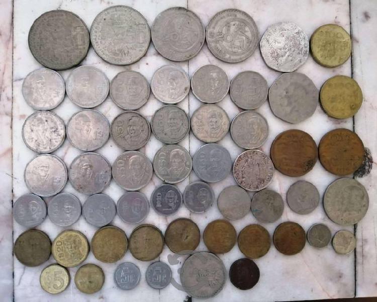Set monedas antiguas mexicanas 1960-1990 colección