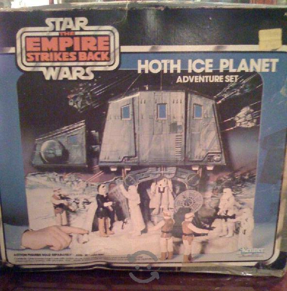 Star wars planeta hoth ice at at 1980 vintage