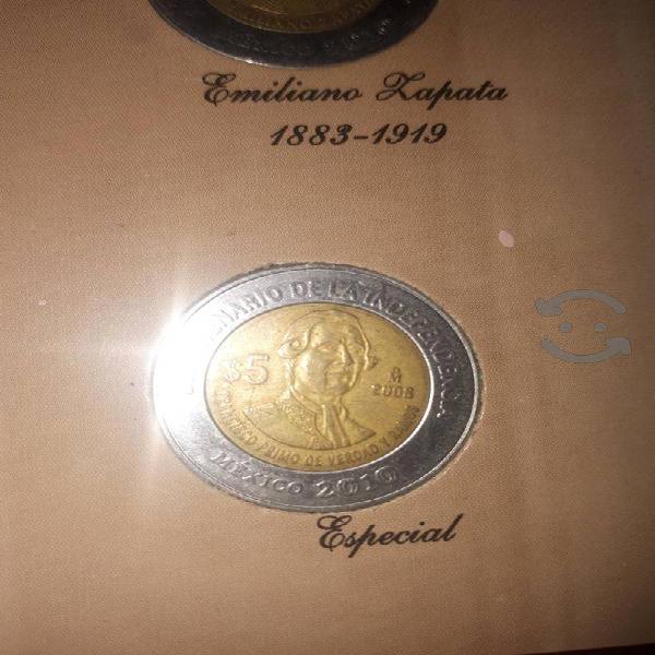 Coleccionador de mondenas de 5 pesos