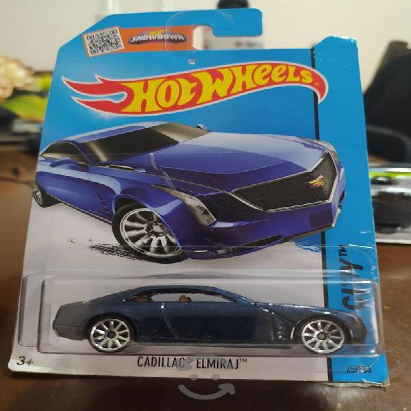 Hot wheels cadillac elmiraj azul hw city nuevo