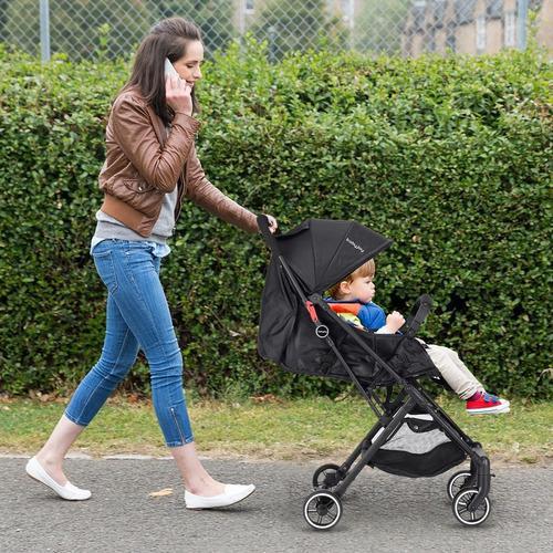 Carriola plegable con cubierta de pie negra baby joy