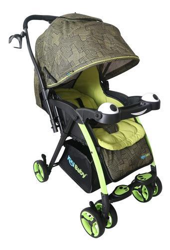 Carriola plegable para bebé kool baby verde - c0102