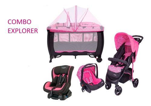 Combo evenflo carriola de bebe explorer autoasiento y corral