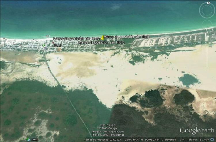 Hermoso terreno en primera fila de sisal, yucatan