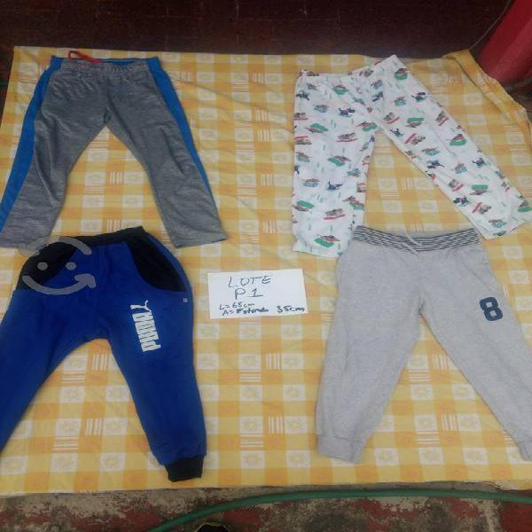 Lote p1 de 3 pants y una pijama talla 8