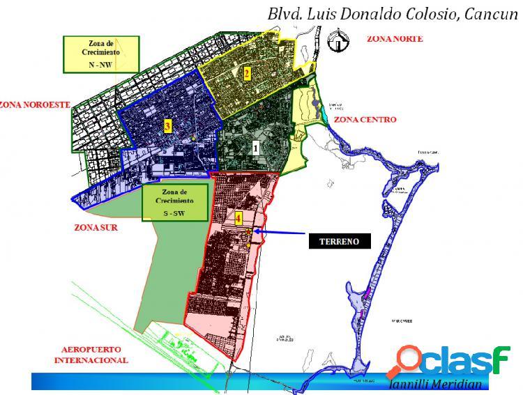Terreno comercial sobre el blvd.l.d. colosio