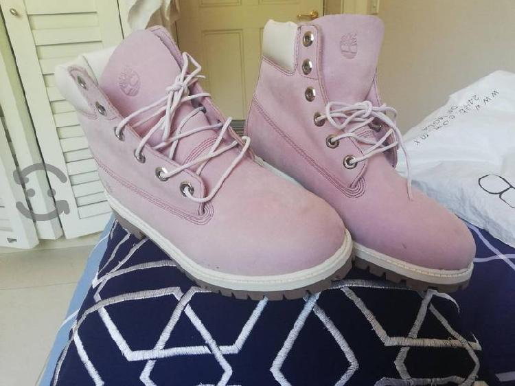 Botas timberland color rosa #26 unisex