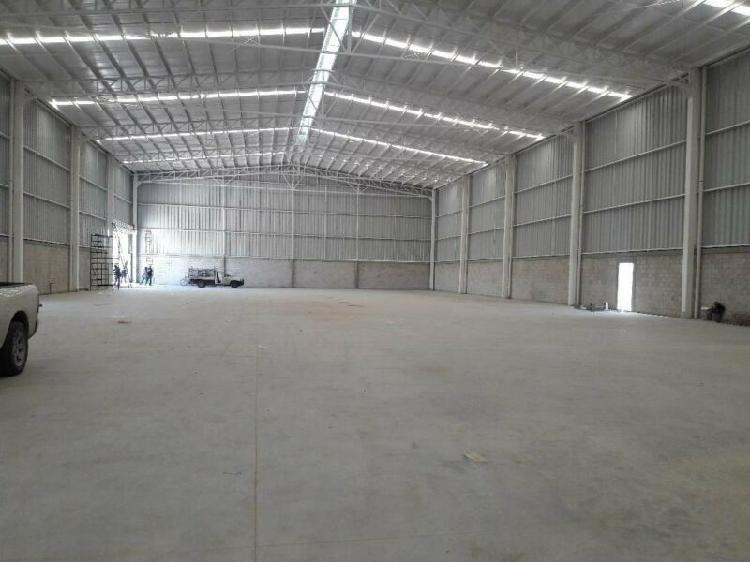Rento nave industrial nueva de 2,240 m2 al norte en parque