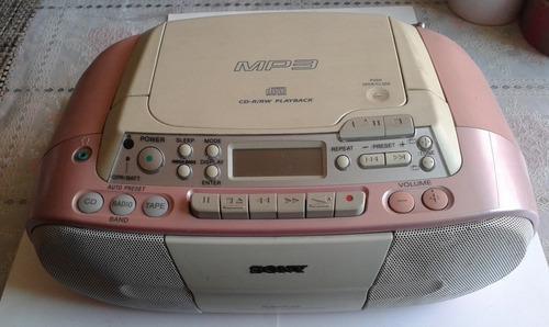 Radiograbadora sony p/cds rw y mp3 y cassettes para reparar