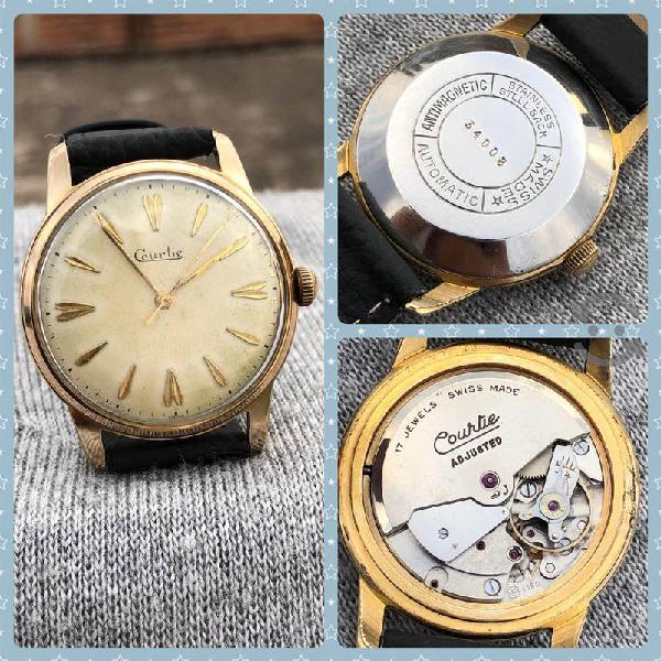 Reloj courtie automátic swiss color oro suizo