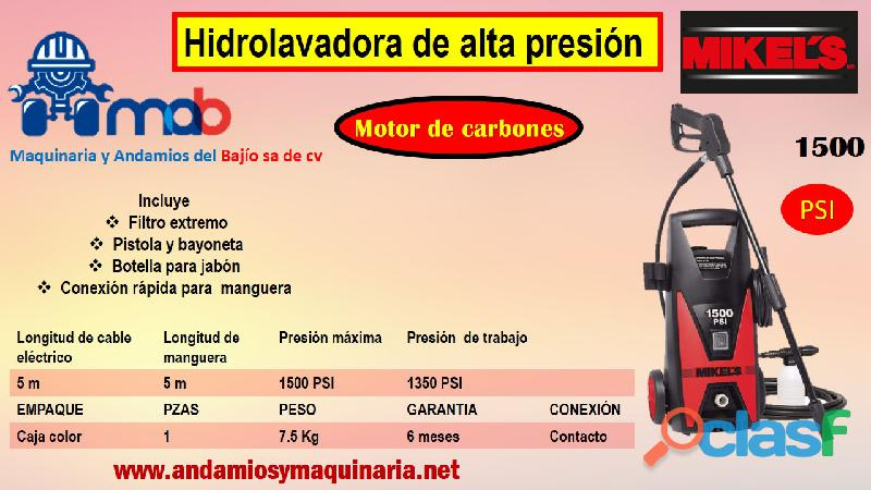 Hidrolavadora de alta presión