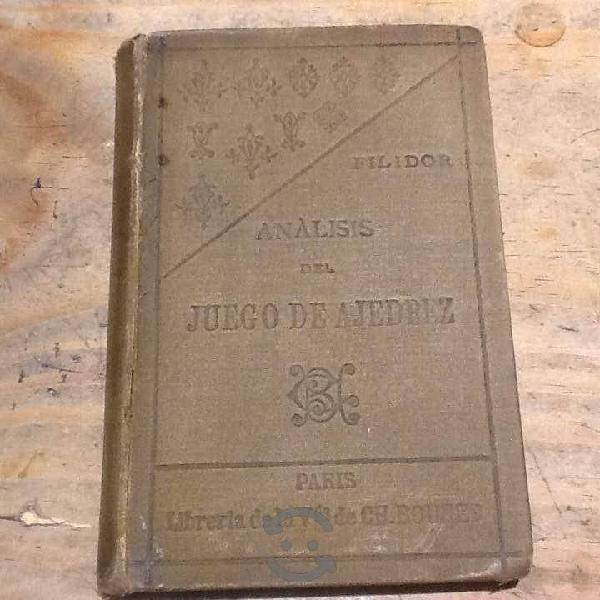 Análisis del juego ajedrez filidor libro antiguo