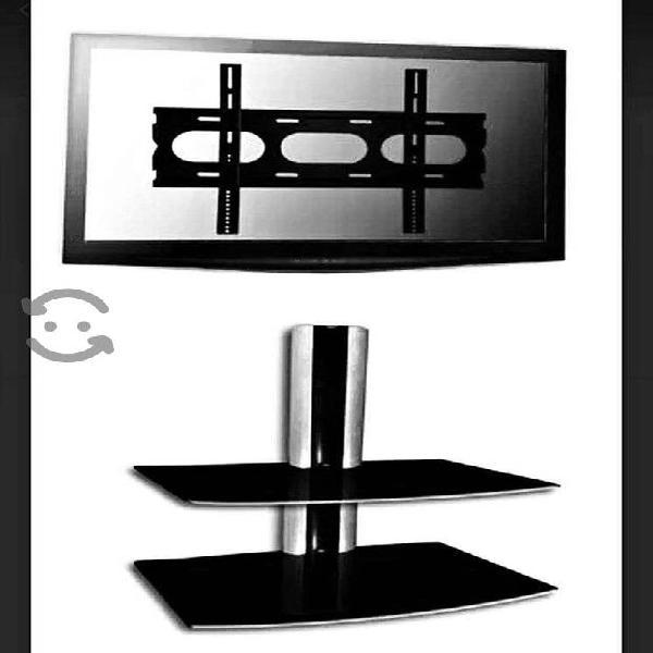 Base para pantalla con soporte de metal