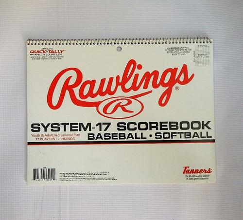 Beisbol softbol scorebook rawlings libreta de anotacion