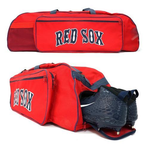 Bonita mochila batera beisbol grande red sox con zapatera