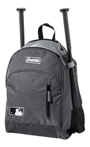 Bonita mochila batera beisbol softbol franklin gris infantil