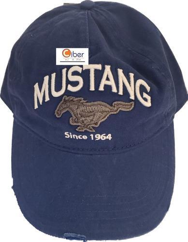 Gorra ford mustang azul marino licencia original envío
